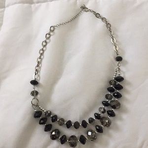 Charming Charlie's black and silver necklace
